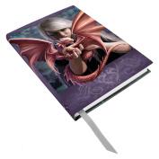 Anne Stokes Once Dragonkin Fairy Dragon Bond Hard Cover Embossed Journal Book
