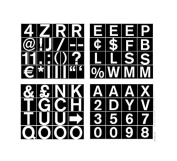 MasterVision 1.9cm Magnetic Set of Letters, Numbers and Symbols, Over 70 Pieces, Black/White