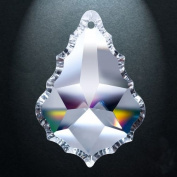 Asfour Crystal 911 Pendeloque Clear Crystal Prism, 6.4cm , 1 Hole , Box of 80 Pieces