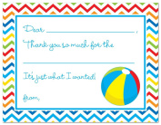 Beach Pool Party Kids Fill-in Thank You Cards
