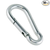 Carabiner Zinc Snap Clips 0.6cm for Baseball Batting Cages Multi Uses