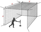 Mini Baseball Hitting Cage Net [Net World Sports]