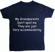 My Grandperents don't spoil me they are just very accommodating Baby/Children T-Shirt/Tops - 3 - 6 Months - Blue