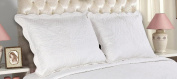 All For You 2-Piece Embroidered Pillow Shams-King size-white colour (king, white .