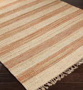 Surya CLR4004-23 Claire Hand Woven Natural Fibre Accent Rug, 0.6m by 0.9m