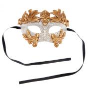 Luxury Sliver Warrior Roman Greek Hercules Design Venetian Men Masquerade Mask - Gold