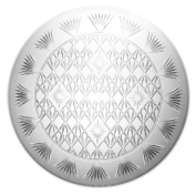 Party Essentials Hard Plastic 41cm Round Diamond Cut Serving Tray, Crystal Clear, Single Unit