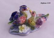 Feng Shui Mandarin Ducks - Hand Crafted and Decorated Chinese Porcelain D05059.