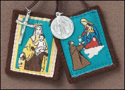 Our Lady of Mt. Carmel brown scapular with medals