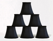 Urbanest 1100467c set of 6 Chandelier Mini Lamp Shade 13cm , Bell, Clip On, Black