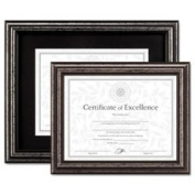 Burnes Home Accents N15790ST Document Frame, Desk/Wall, Wood, 11 x 14, Antique Charcoal Brushed Finish
