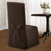 United Curtain Metro Dining Room Chair Cover, 19 by 46cm by 100cm , Chocolate