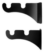 Iron Double/Triple Curtain Rod - Curtain Rod Brackets - Black Metal