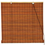 Oriental Furniture Burnt Bamboo Roll Up Window Blinds, Mahogany, 60cm Wide
