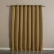 Best Home Fashion Wheat Wide Width Grommet Top Thermal Blackout Curtain 250cm W x 210cm L - 1 Panel