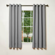 Best Home Fashion Thermal Insulated Blackout Curtains - Antique Bronze Grommet Top - Grey - 130cm W x 160cm L -