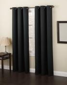 No. 918 Montego 120cm by 160cm Curtain Panel, Black