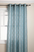 Stylemaster Hudson 140cm by 210cm Embroidered Faux Silk Grommet Panel, Spa