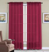 WPM 2 Piece Beautiful Sheer Window Elegance Curtains/drape/panels/treatment 150cm w X 210cm l