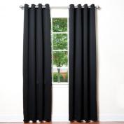 Best Home Fashion Thermal Insulated Blackout Curtains - Antique Bronze Grommet Top - Black - 130cm W x 210cm L -