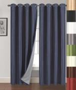 Siena Home Fashions Buona Notte Blackout Curtain (Navy) - 140cm x 210cm