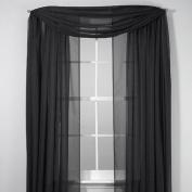 Elegance Sheer Voile Black 550cm Scarf