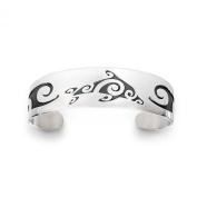 Sterling Silver Tahitian Dolphin Bracelet. Made in USA.