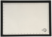 Mercer Culinary M31093BK Silicone Bake Mat with Black Border, Half Size, 30cm by 42cm , Black