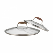 Anolon Advanced Bronze Twin Pack 25cm and 30cm Glass Lids