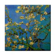 Blossoming Almond Tree By Vincent Van Gogh Tile Trivet
