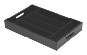 Mountain Woods 6 Compartment Black Utensil / Silverware / Cutlery Organiser Tray with Felt Interior