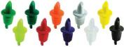 Set of 10 Plastic Free Flow Liquor Bottle Pourer ASSORTED Colours