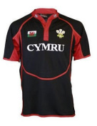 DAFFYDD COOLDRY BABY KIDS WELSH RUGBY SHIRT BREATHABLE FABRIC HOME OR AWAY