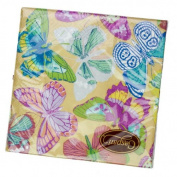 Gold Butterfly Design Triple Ply Paper Napkins