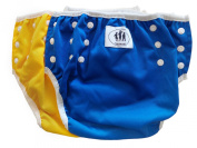 Three Little Imps Set of 2 Baby Swim Nappies-1-2 year old -Green, Blue or Yellow