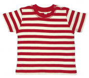 Babybugz Baby Stripy T-Shirt Infant Toddler Kids Soft & Stretchy Pure Cotton Tee