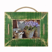 Picture Frames | My Villa | Cord Frame Single | Green - green, Wood, 15 X 21 cm