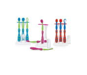 Nuby 757 Toddler Dental / Oral Care Set 4 Stage Perfect Size for Baby 0 month+ Colours May Vary