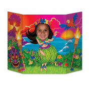 Beistle Hula Girl Photo Property, 0.9m by 60cm , Multicolor