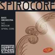 Thomastik-Infeld S42W Spirocore Bass Strings, Complete Set, Weich (Light), 4/4 Size, Orchestral Tuning