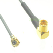 IPX U.FL female 1.13mm 8inch RF pigtail MMCX female jack pin right angle Cable Quick USA Shipping