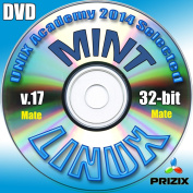 Mint Mate 17 Linux DVD 32-bit Full Installation Includes Complimentary UNIX Academy Evaluation Exam