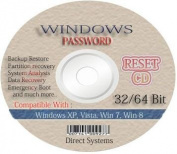 Recovery Boot Password Reset CD Disc for Windows XP, Vista, 7, 8