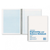 National Brand Engineering and Science Notebook, College with Margin and 10 X 10 Quad, White, 28cm x 22cm , 60 Sheets