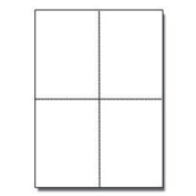 8-1/2 x 11 Blank Perforated Paper, 24# Paper Perforated in 4 pcs - 500 Sheets/Ream, Item #1689