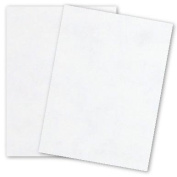 French Parchtone - WHITE - 8.5 x 11 Parchment Card Stock - 36kg Cover - 25 PK