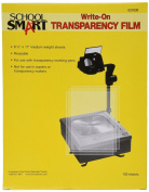School Smart Medium Weight Write-On Transparency Film - 8 1/2 x 11 - Pack of 100