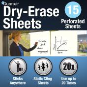 Quartet Dry Erase Sheets, Anywhere, 15 Sheet Roll