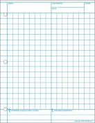 Mathnotes White 150 Ct 22cm X 28cm