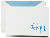 Crane & Co. Hand Engraved Newport Blue Thank You Notes